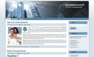BlueSkyline Theme für WordPress