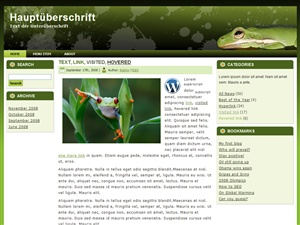 Green Frog Theme for WordPress, Joomla and Drupal