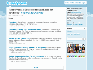 TweetPress 2 Open Source Wordpress Powered Twitter Clone