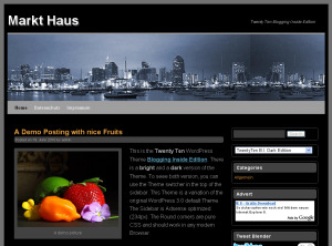 WordPress 3.0 Theme Blogging Inside Dark Edition