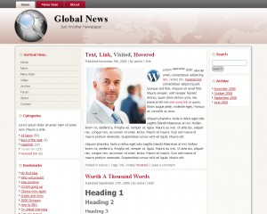 Global News WordPress 3.0 Theme