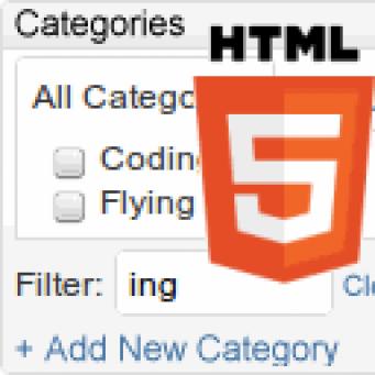 HTML5 Kategorien