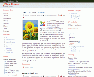 gPlus Joomla Theme