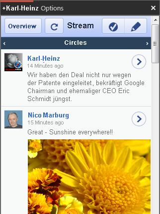 Google Plus GClient Screenshot