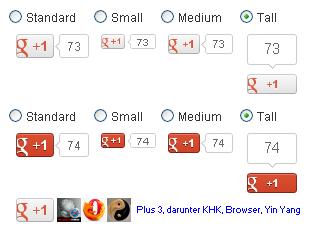 Neuer Google +1 Button Stil