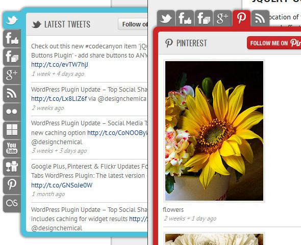 Social Network Tabs für WordPress - Zwei Beispiele