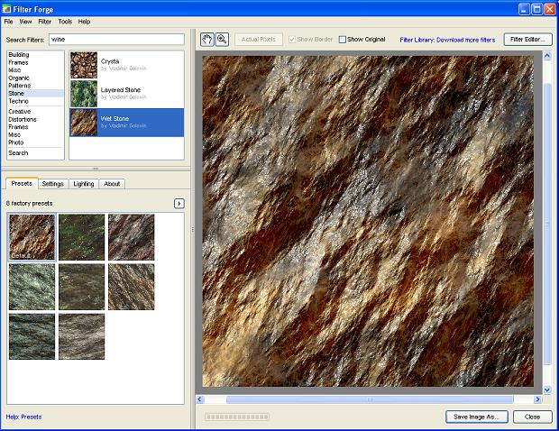 Filter Forge Beispiel einer Stein-Textur