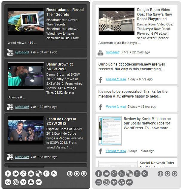 Beispiel von Rotating Stream Listen für WordPress