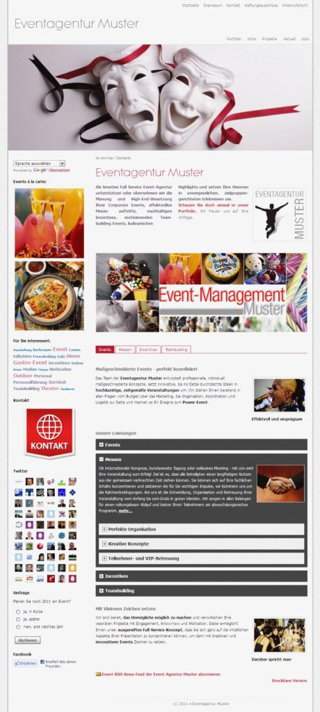 Eine web to date 8 Beispiel Website
