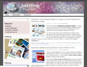 Das kostenloses WordPress Theme 32i Blog