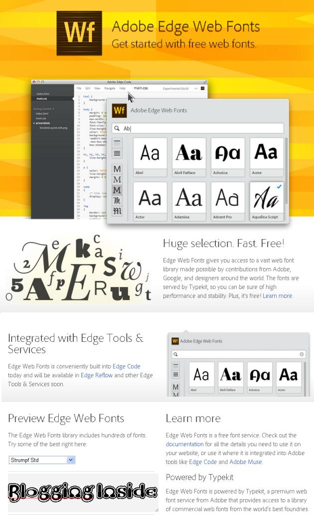 Adobe Edge Web Fonts kostenlos nutzen