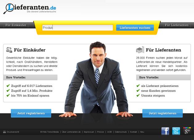 Lieferanten.de - Vom unbekannten Unternehmen zur etablierten Marke in nur einem Jahr