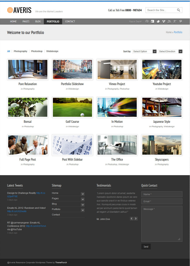Portfolio - Averis Responsive Business WordPress Theme