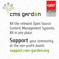 CMS Garden auf der CeBIT