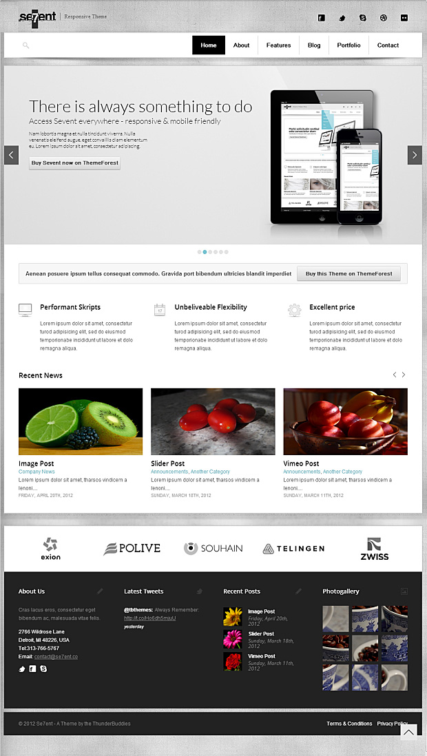 Sevent – Ein universal einsetzbares responsives WordPress Theme
