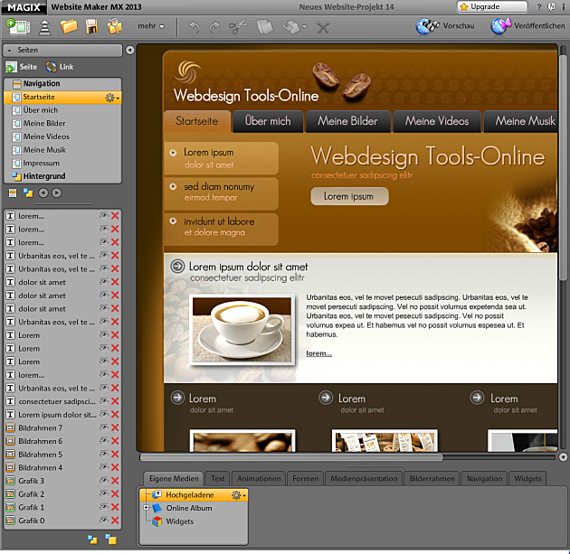 MAGIX Website Maker MX 2013