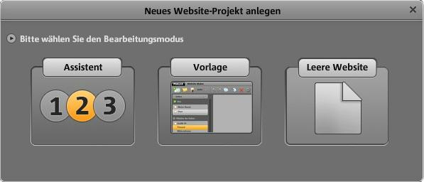 Magix Website Maker Auswahl