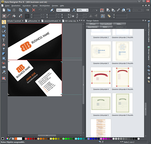 Grafik Design mit dem Xara Designer Pro X