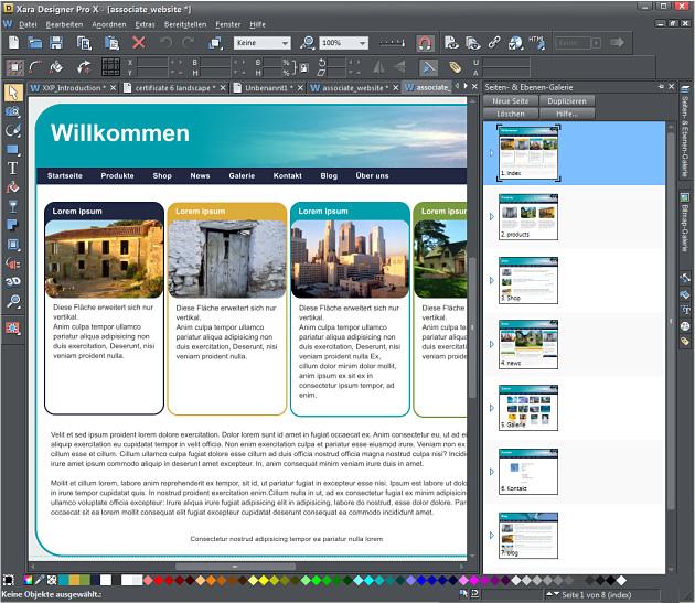 Webdesign mit dem Xara Designer  Pro X