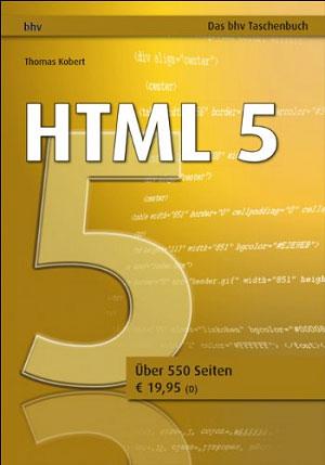Buch: HTML 5 von Thomas Kobert