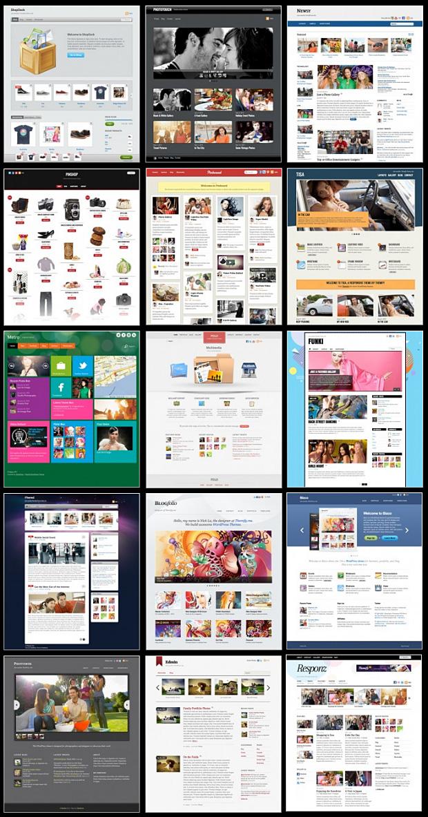 Eine Auswahl der Themify WordPress Premium Themes