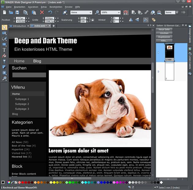Deep Dark HTML- Theme