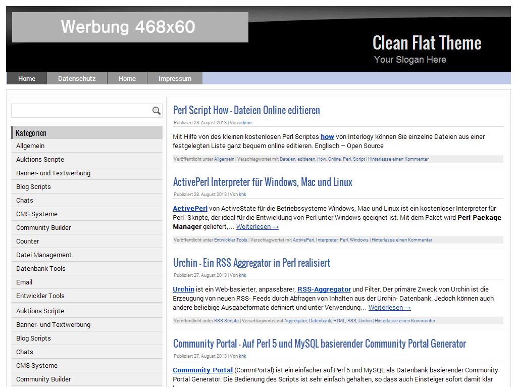 Clean Flat Theme Screenshot