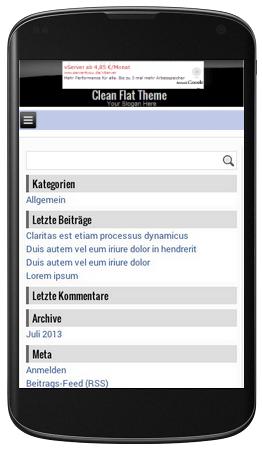 Clean Flat Theme mobil