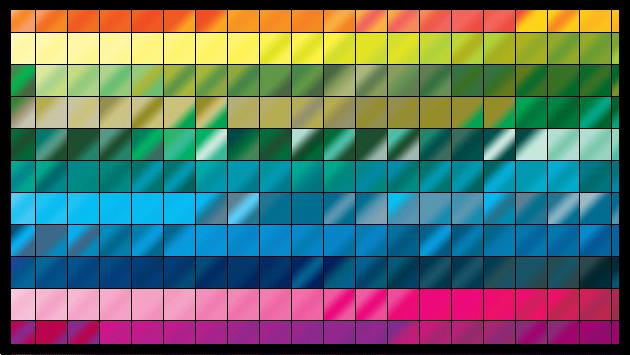 Ein kleiner Ausschnitt der 11.000 PhotoShop Farbverläufe