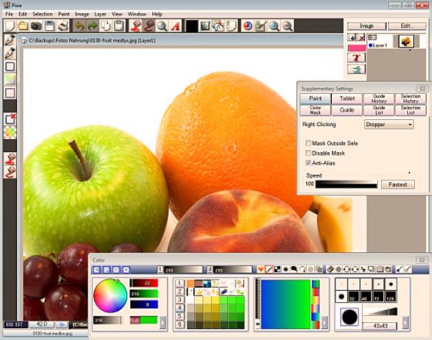 Pixia Bildbearbeitung für Windows