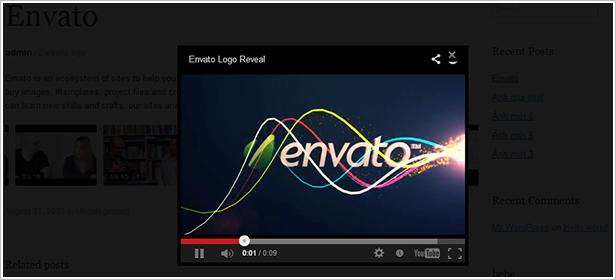 Video- Anzeige in der Lightbox