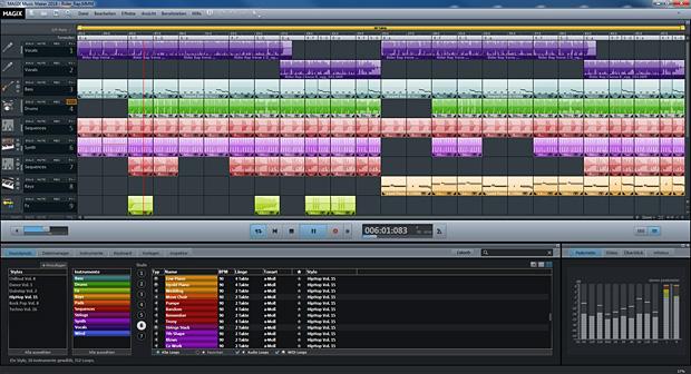MAGIX Music Maker Oberfläche