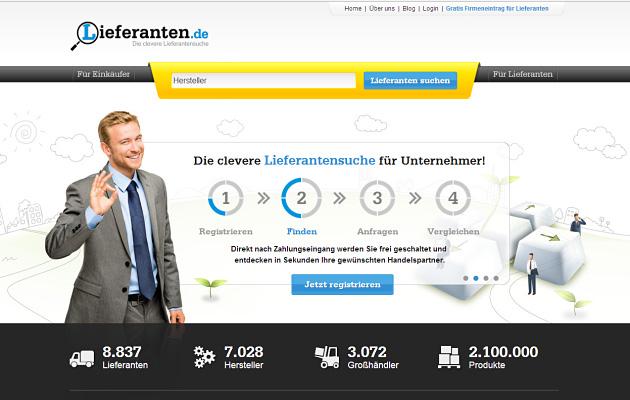 Lieferanten.de Homepage