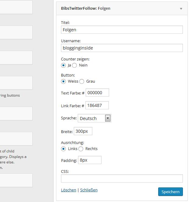 Bibs Twitter Follow Button Reloaded Plugin für WordPress