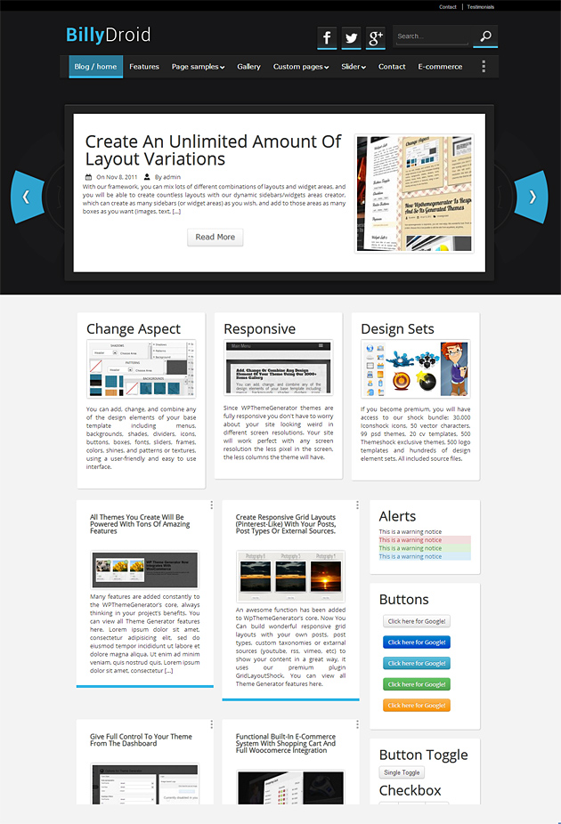 BillyDroid WordPress Theme