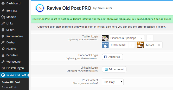 ReviveOldPost
