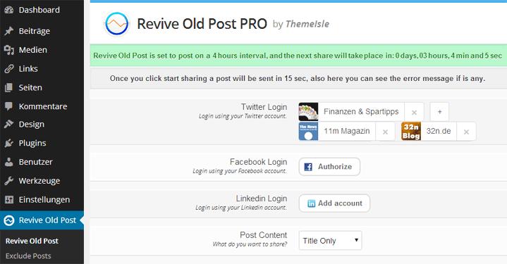 ReviveOldPost
