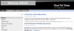 Kostenloses responsives CleanFlatTheme für WordPress