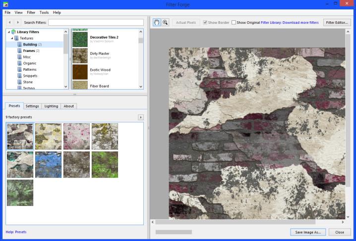 FiilterForge-Texturen
