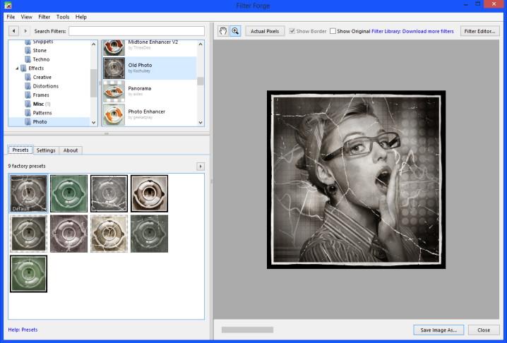 Old Photo Effekt Filter